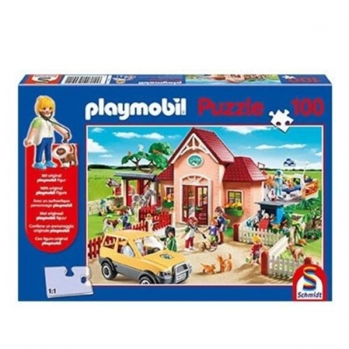 schmidt-puzzle-100-playmobil-at-the-vet