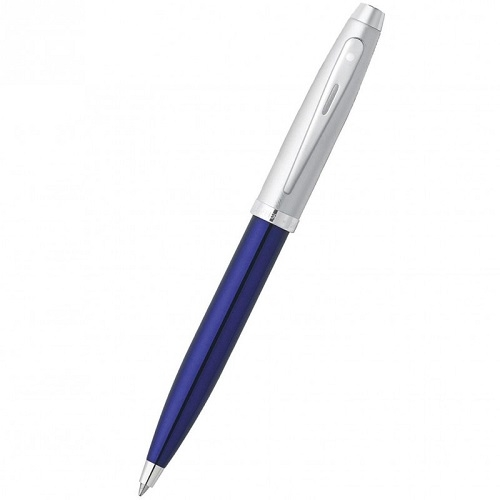 sheaffer-100-blue-with-brushed-chrome-cap-ct-ballpen-9308-2